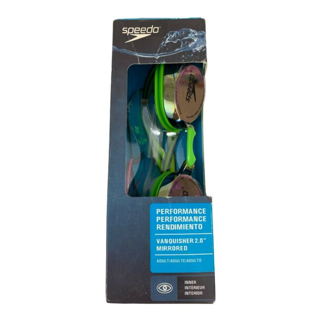 SPEEDO Performance Vanquisher 2.0 Mirriored Swim Goggles Inner Fit Key Lime