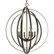 Details about Progress Lighting 650050 Equinox 4 Lt Antiq Bronze Transitional Globe Chandelier