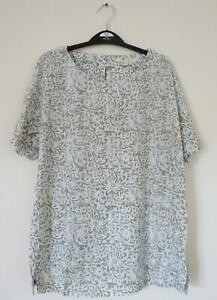 NEW-EX-WHITE-STUFF-UK-SIZE-10-CREAM-TURQUOISE-FLORAL-PRINT-BLOUSE-TOP
