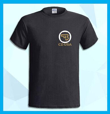CZ USA Logo Česká zbrojovka ČZUB Czech Arms Men/'s Black T-Shirt S M L XL 2XL