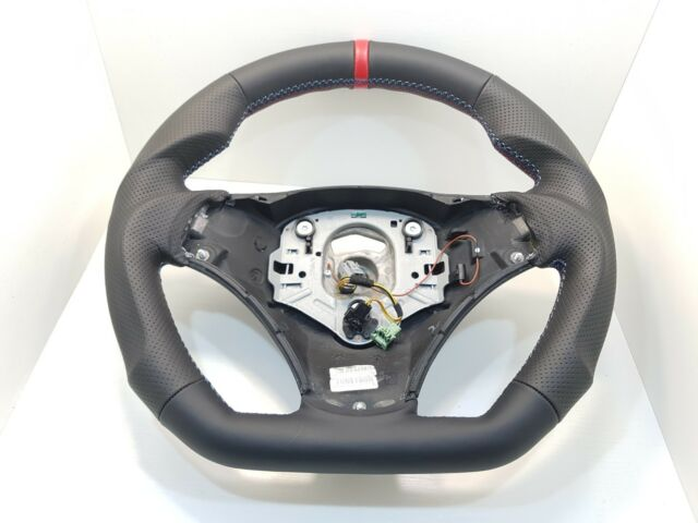 BMW E90 E91 E92 E93 E87 E81 E88 Sport NAPPA Leather Steering Wheel M-Stitching