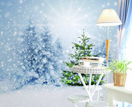3D Baum Schneeflocke M212 Christmas Tapete Wandbild Selbstklebend Abnehmbare Amy
