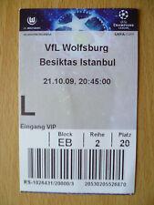UEFA Europa League TICKET- VFL WOLFSBURG v BESIKTAS ISTANBUL, 21 October 2009