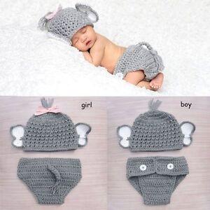 Newborn Baby Girls Boys Costume Animal Cap Cartoon Photo Photography Prop Outfit