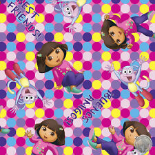 165000071 - Dora the Explorer Boots Best Friends Amigos Quilt Fabric By the Yard