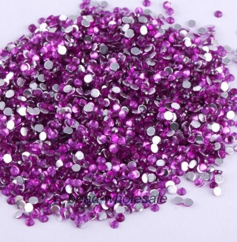 5mm 3mm 2000Pcs Crystal Flat Back Resin Rhinestones Gems 60 colors 4mm 2mm