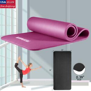 Extra-Thick-Yoga-Mat-Fitness-Pilates-Gym-Non-Slip-Exercise-Pad-W-Bag-Strap-Women