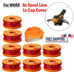 NEW-For-Worx-Spool-Line-String-Trimmer-Edger-WA0010-WA0007-8-Pack-Replacement-US