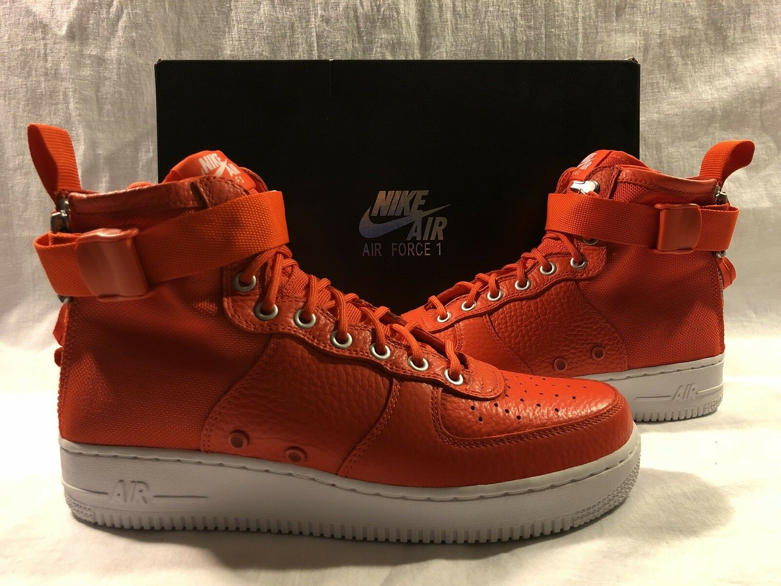 sale retailer 7463c 26a1f NIKE SF AF1 AIR FORCE 1 ONE MID SZ 10 FIELD BOOT TEAM orange WHITE 917753