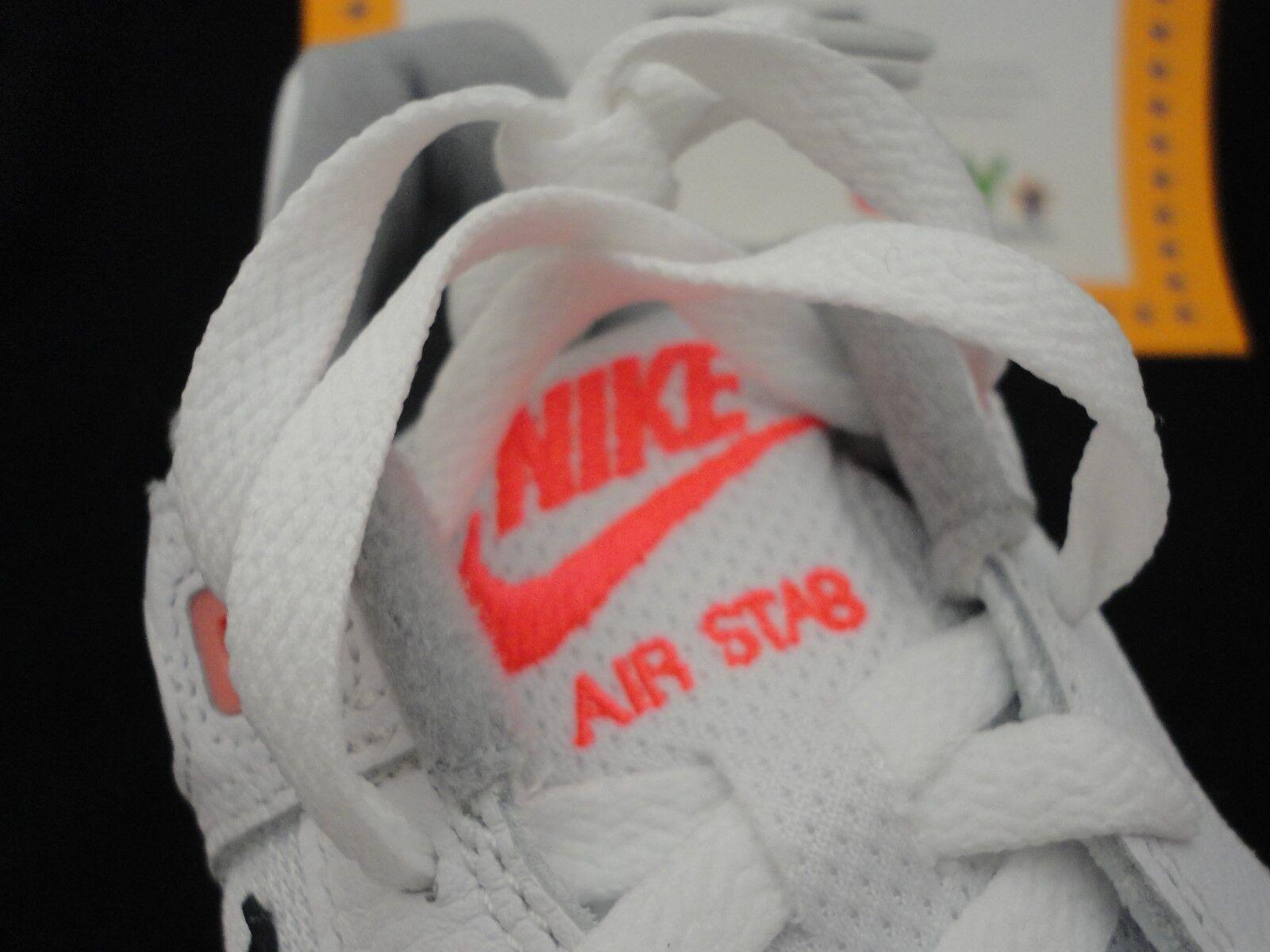 Nike Air Stab, White   Black   Hot Lava, Size 10