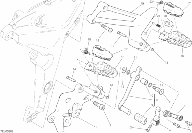 Ducati Multistrada Rear Lh Footrest Hanger