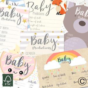 Peter Rabbit A6 Size Pack of 10- Blue Baby Boy Baby Prediction Cards Dinosaur Stork Rainbow Safari Baby Shower Rabbit Bear