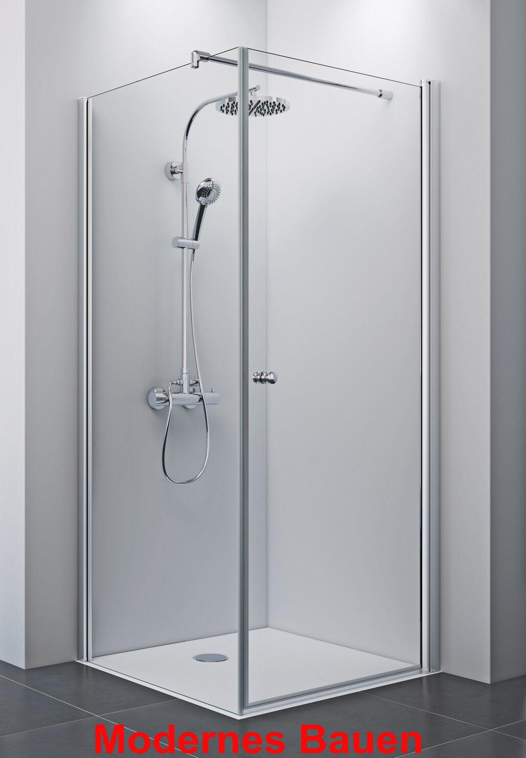 Breuer ELANA 8 mm Dusche Schwingtür 100 cm mit Seitenwand 75 - 100 cm Sondermaße
