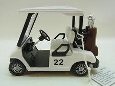22050 | Golfcar 1:18 m. Antrieb Golfcart Golf Club Caddy Geschenk Golfer NEU
