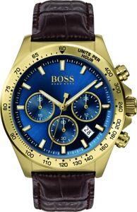NEU-Hugo-Boss-Braun-Herren-Armbanduhr-Hero-1513756-DE