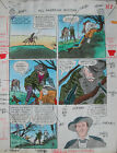 ALEX TOTH ALL AMERICAN WESTERN 121 pg 7 PAINTED PRODUCTION ART Theakston 1992