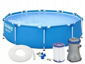 6in1-GARDEN-SWIMMING-POOL-366-cm-12FT-Round-Frame-Above-Ground-Pool-PUMP-SET