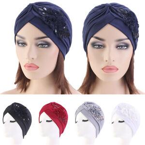 Sequins-India-Muslim-Ruffle-Cancer-Chemo-Hat-Beanie-Scarf-Turban-Head-Wrap-Cap