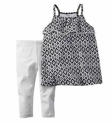 NWT Carters Toddler Girl 2-Piece Summer Top /&  Legging Outfits  2T 3T 4T