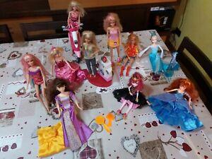 eb77bfcb97 Barbie varie ed altro, lotto 10 bambole come da foto usate | eBay