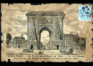 VIEUX-PARIS-PORTE-SAINT-DENIS-en-1768-Arc-de-Triomphe-anime