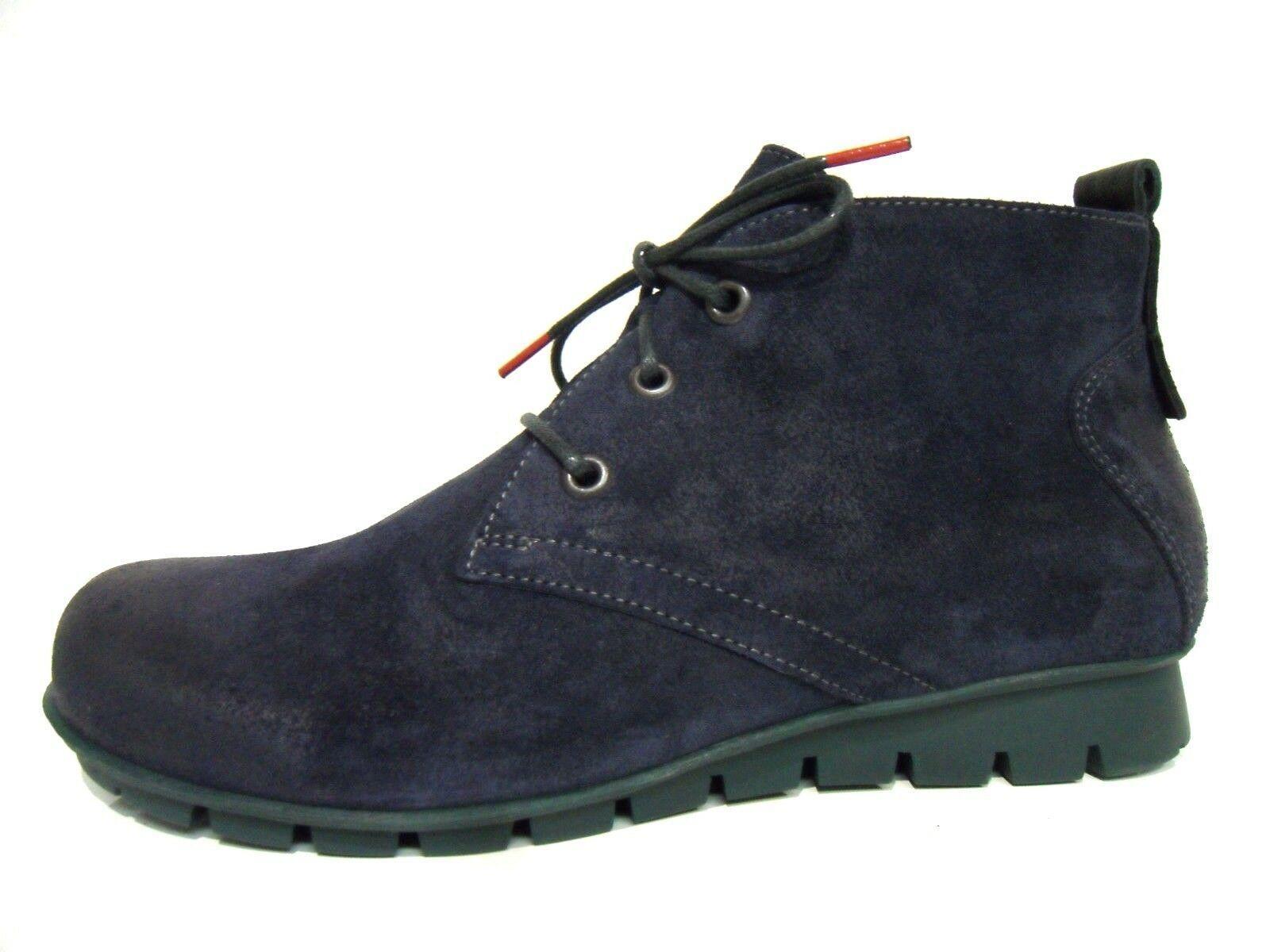 Think Schuhe Stiefel Knöchelschuhe Stiefel Menscha blau grün Leder Einlagen