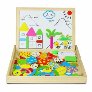 Toy-Educational-Board-of-Magnetic-Drawing-Double-Sided-of-Wood-Boy-Girl-3