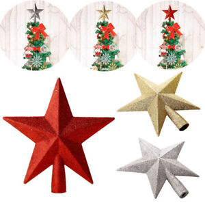 Details About 20cm Glitter Star Christmas Tree Topper Star Christmas Ornaments Xmas Decoration