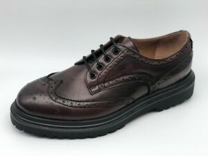 Dettagli su Stringate Frau 7225 pelle bordeaux Made in Italy tipo Dr. Martens €149 20%