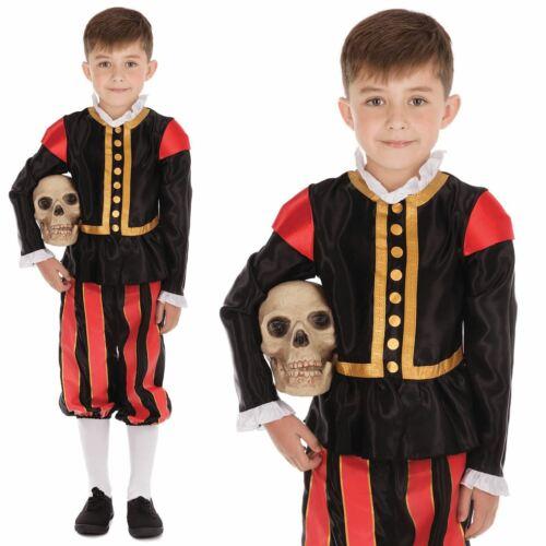 Kids Boys William Shakespeare Medieval Tudor Fancy Dress Book Week  Costume