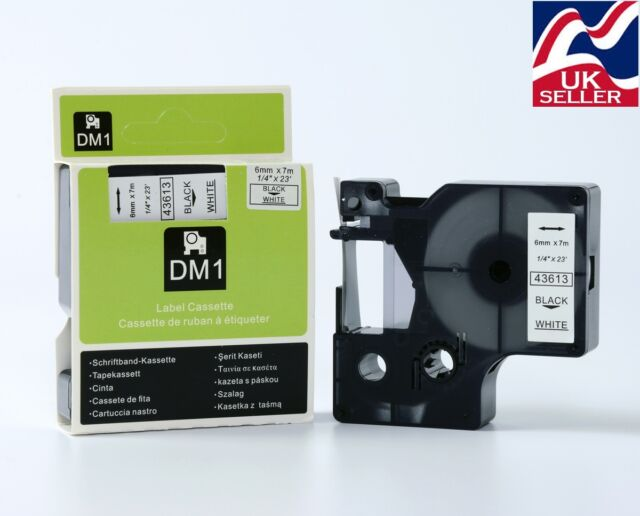 1-36 x D1 tape cartridge 40913 black//white 9mmx7m for DYMO label manager printer