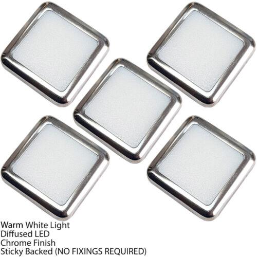 Square LED Plinth Light Kit –WARM WHITE Spotlights –Kitchen//Bathroom Floor Panel