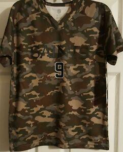 New Orleans Saints Drew Brees   9 Camo shirt size youth medium 10 12 ... 077de9733