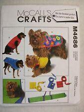 Dog Coats Vest Leash Mat McCalls Sewing Pattern M4686 See Full Listing Info