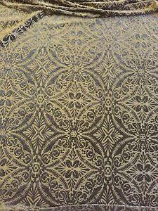 Image Is Loading Black Lili Burnout Damask Geometric Stretch Velvet Fabric