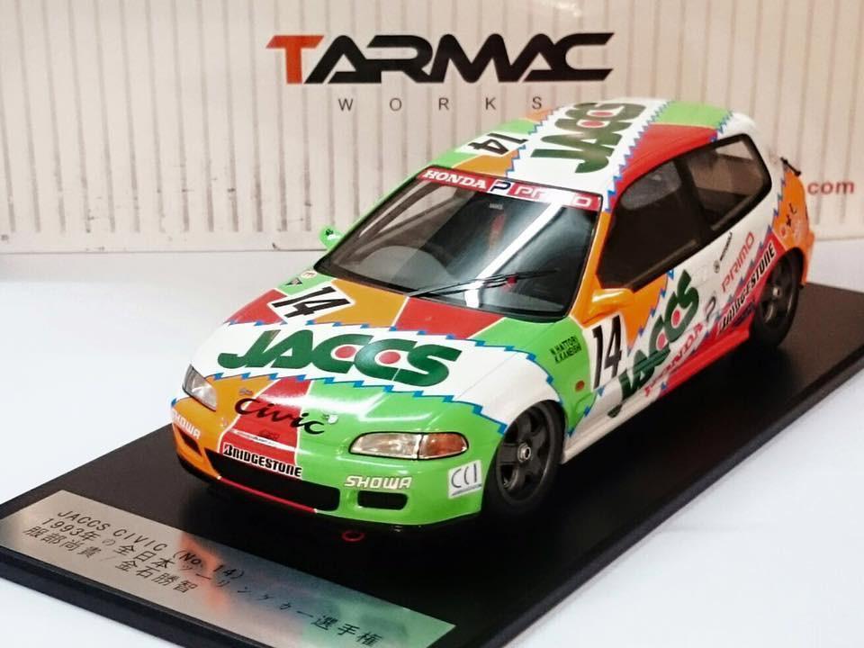 Tarmac Works 1 18 jaccs Honda Civic EG6 1993 JTCC T01-JA