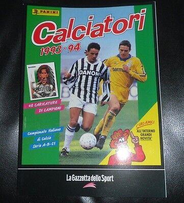 ALBUM PANINI CALCIATORI LA RACCOLTA COMPLETA 1993-94 1994 GAZZETTA DELLO SPORT