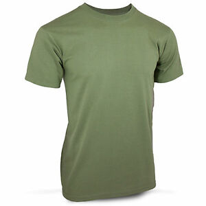 S M L Olive Green Crewneck Tee Cotton