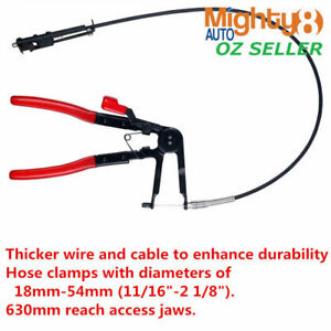 Flexible-Long-Reach-Hose-Clamp-Pliers-Fuel-Oil-Clip-Removal-Ratchet-Locking-Tool
