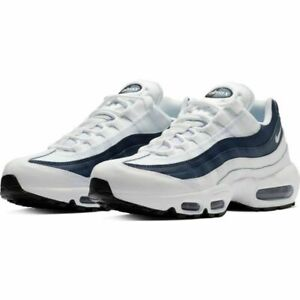Details about New Men's Nike Air Max 95 Essential White Midnight Navy Size 7 749766 114