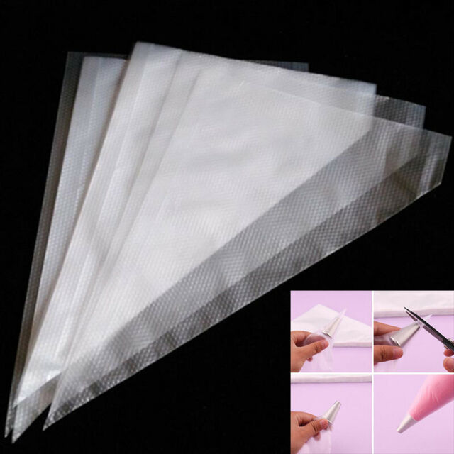 100PCS New Plastic Disposable Cream Pastry Icing Piping Decor Bags Baking To JF