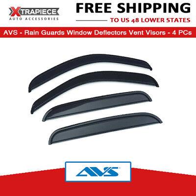 Auto Vent Shade 94375 Original Vent Visor Side Window Deflector Dark Smoke 4-Piece Set for 2014-2018 Subaru Forester