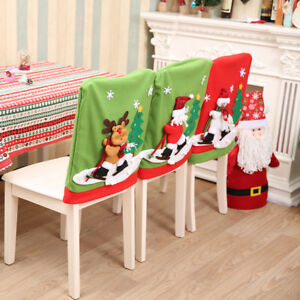 Image Is Loading Christmas Creative Santa Snowman Elk Dining Room Chair