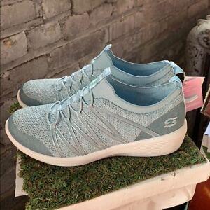 NEW-Women-039-s-Skechers-Arya-Air-Cooled-Memory-Foam-Blue-Slip-On-Shoes-Pick-Size
