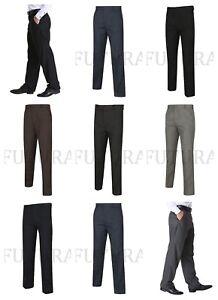 Pantalon-homme-Formal-Casual-Bureau-Smart-Travail-Ceinture-Poche-Plus-Gros