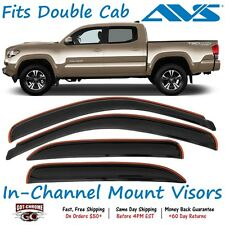 194768 AVS In-Channel Vent Visor Rain Guards Toyota Tacoma Double Cab 2016-2017