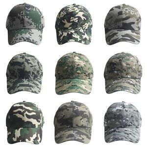 e3f658fb9810a Image is loading Unisex-Camo-Baseball-Cap-Military-Hunting-Outdoor-Hat-