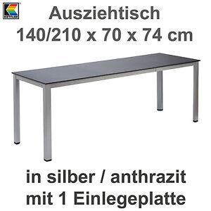 Kettler Ausziehtisch 140 210 X 70 Cm Balkontisch Gartentisch In
