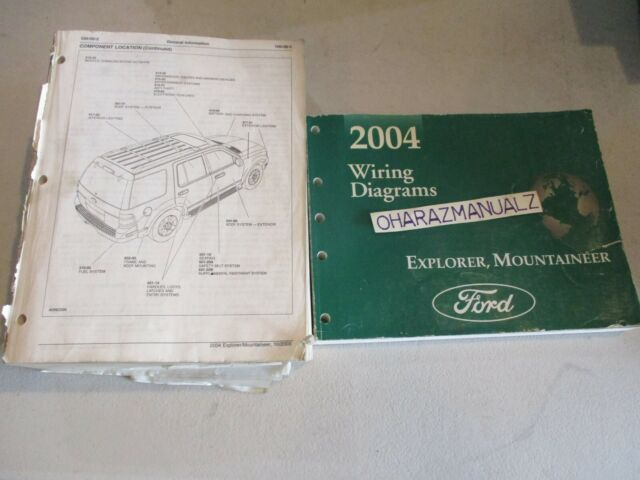 2004 Ford Explorer Mountaineer Wiring Diagrams  U0026 Service