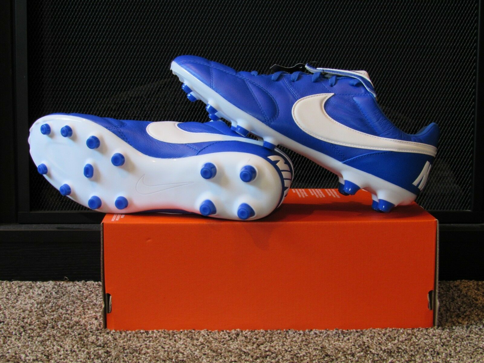 Men's THE NIKE PREMIER II FG SOCCER CLEATS   SPIKES - 917803 407 Futbol - bluee